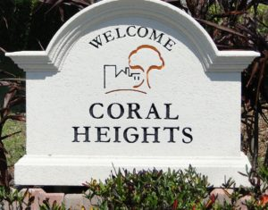 Coral Heights Neighborhood - Coral Heights Sign
