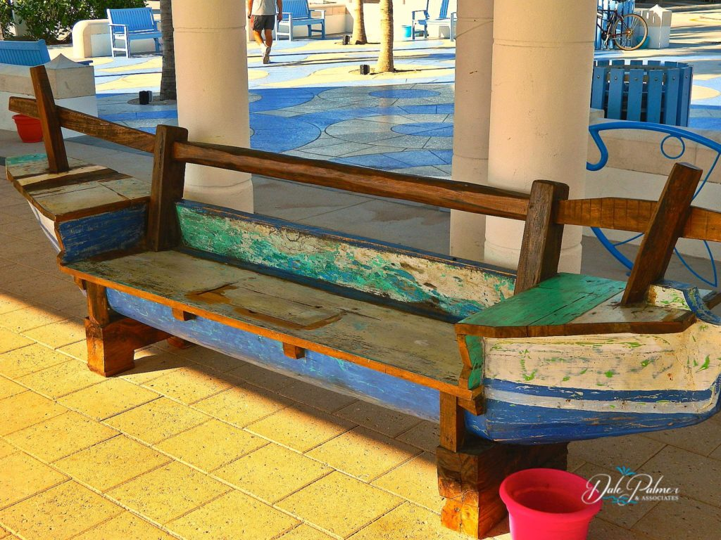 Wood Bench at the Beach