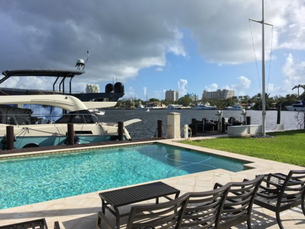 Fort Lauderdale Waterfront Home - View with Yacht