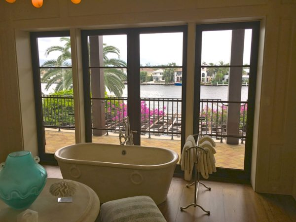 Fort Lauderdale Waterfront Homes - 615 Lido Drive - Master Bath with View