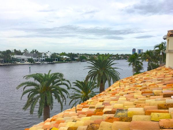 Fort Lauderdale Waterfront Homes - 615 Lido Drive - Rooftop deck view - West