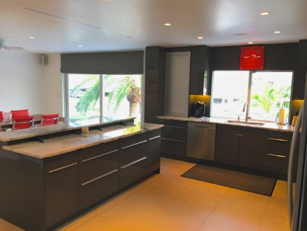 Fort Lauderdale Waterfront Home - Kitchen with View