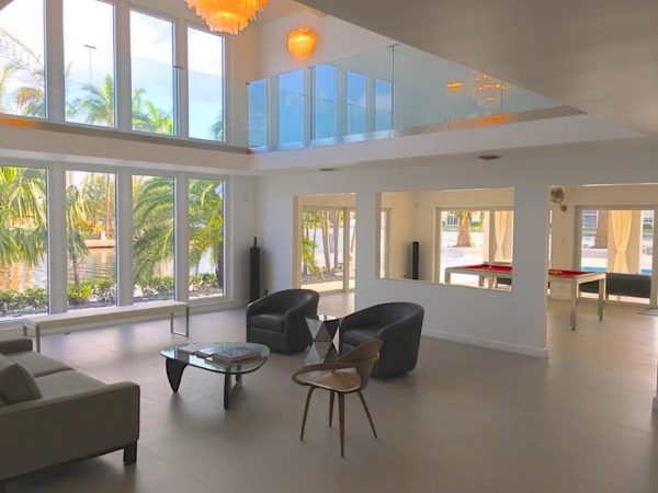 Fort Lauderdale Waterfront Home - Living Area with view