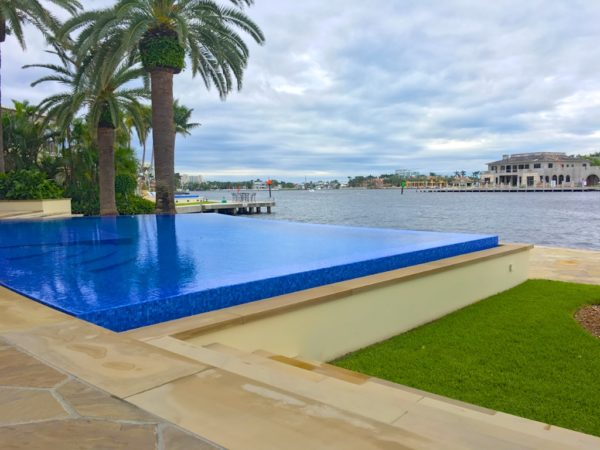 Fort Lauderdale Waterfront Homes - 615 Lido Drive - Pool and View - East