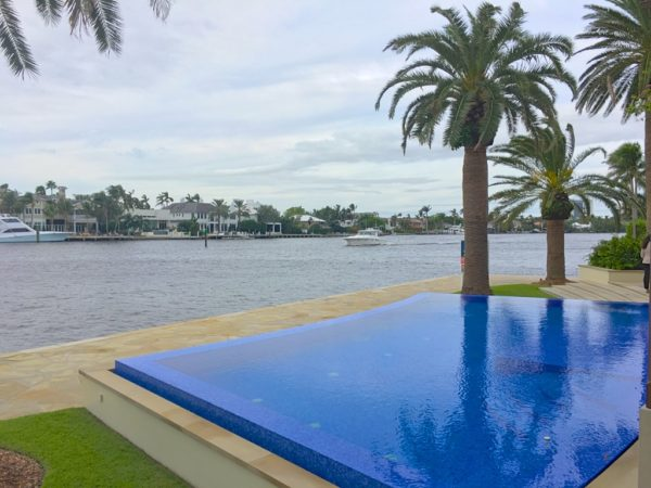 Fort Lauderdale Waterfront Homes - 615 Lido Drive - Pool - West View