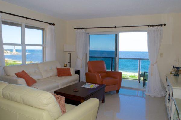 Pompano Beach Condo - Tiffany Gardens 706 Living Room