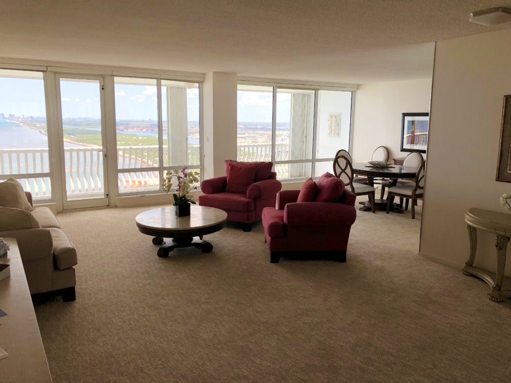 Point of Americas - Unit 2904 Living Room