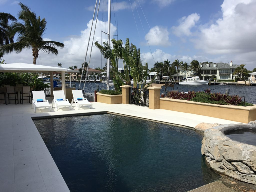 Fort Lauderdale Waterfront Luxury Home - Pool view